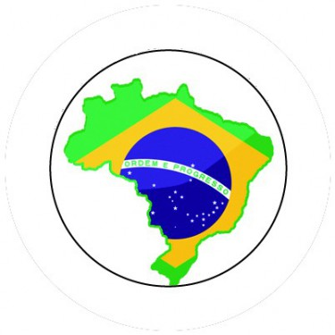 BADGESAGOGO.FR - Badge 25mm BRESIL