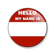 Badge 59 mm My name is