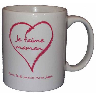 """Mug personnalisé """"je t'aime"""""""