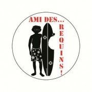 Badge ami des requins 38 mm
