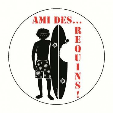 Badge ami des requins 59 mm