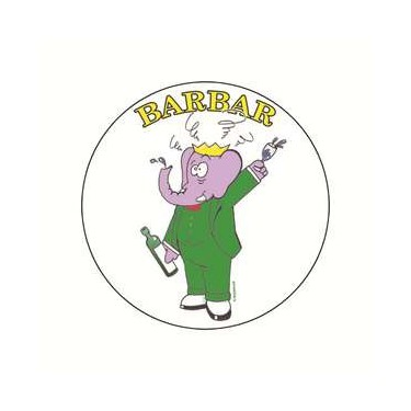 Badge barbar 38 mm