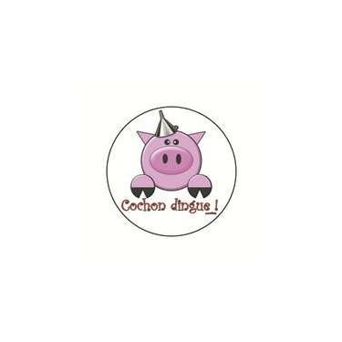 Magnet cochon dingue 25 mm