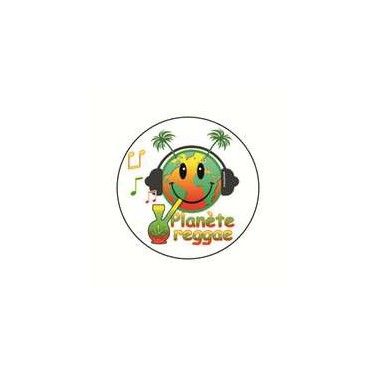 Badge planete reggae 25 mm