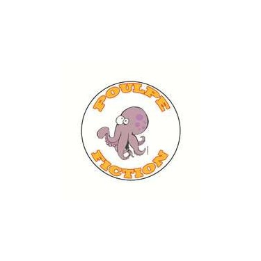 Badge poulpe fiction 25 mm