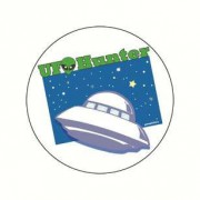 Badge UFO HUNTER 38 mm