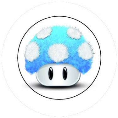 BADGESAGOGO.FR - Badge 25mm Champignon