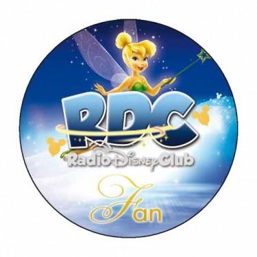 """Badge """"FAN"""" du Radio Disney Club - Badge 59 mm"""