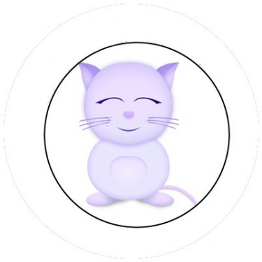 BADGESAGOGO.FR - Badge 25mm Chat