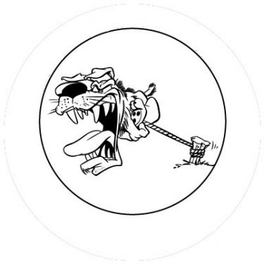 BADGESAGOGO.FR - Badge 25mm Chien mechant