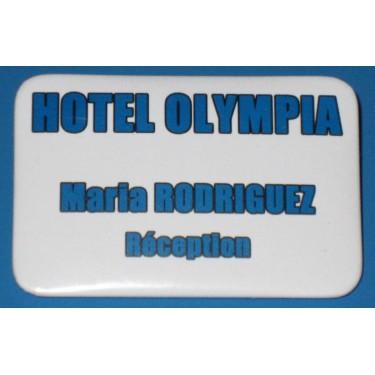 Badges personnalisés de forme rectangulaire